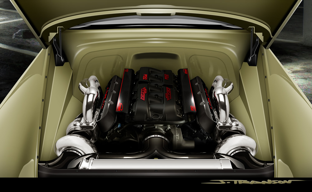 54 Chev Engine
